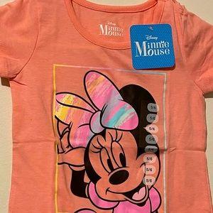Disney shirt Minnie Mouse Girl New!
